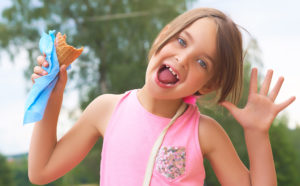 Little-Girl-Eating-Lick-oral-hygiene-Calamvale-dental