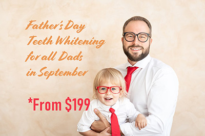Father's Day teeth whitening promotion